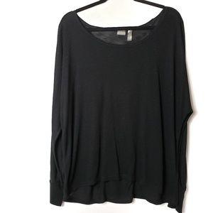 Zella crew neck long sleeve solid t-shirt top